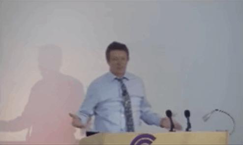 Dr Nigel Plummer from Cultech giving a keynote speech