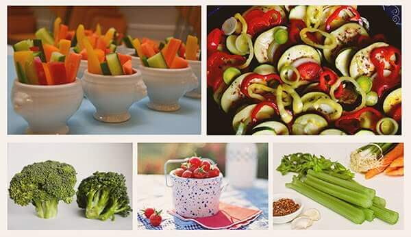 Healthy snack ideas for you and the kids - vegetable options