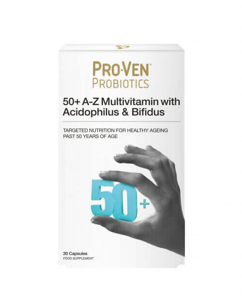 ProVen Probiotics Multivitamins for 50+ year old Adults – Minerals with friendly Bacteria