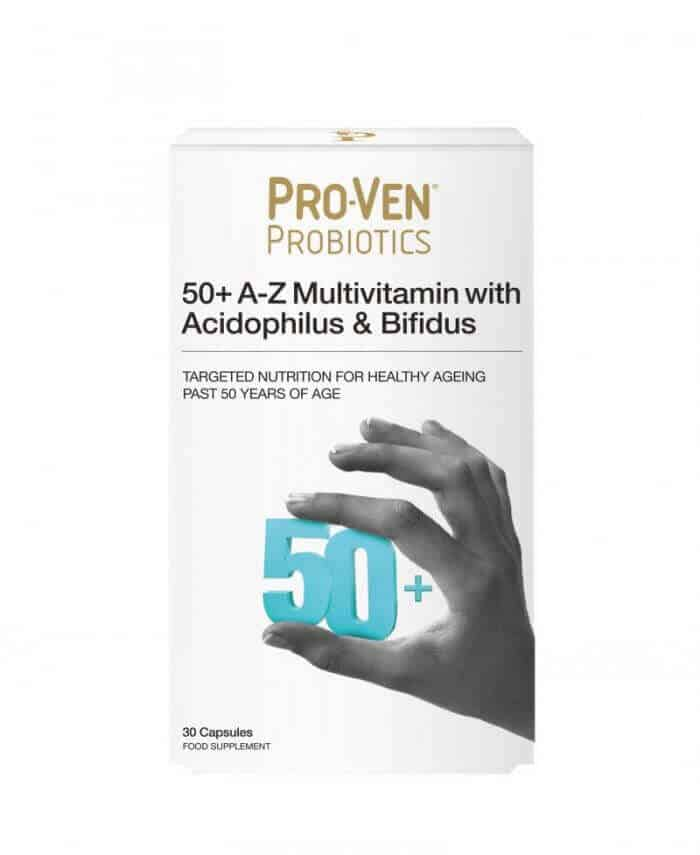ProVen Probiotics Multivitamins for 50 plus year old Adults - Minerals with friendly Bacteria