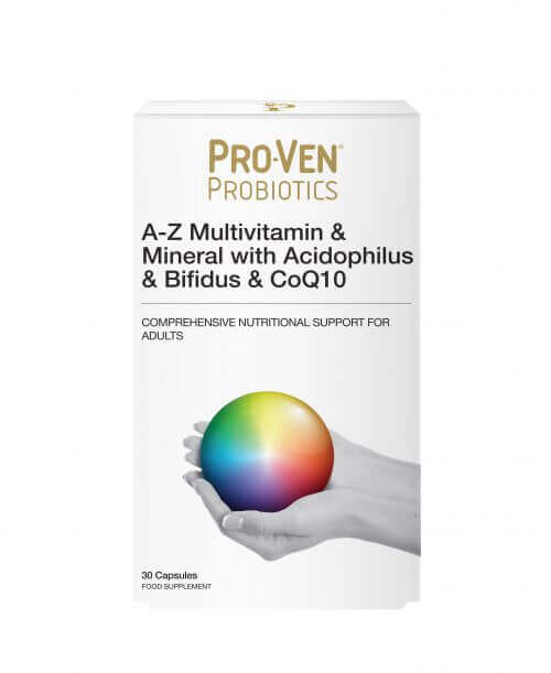 ProVen Probiotics Multivitamin and Minerals with friendly Bacteria and CoQ10 for Adults