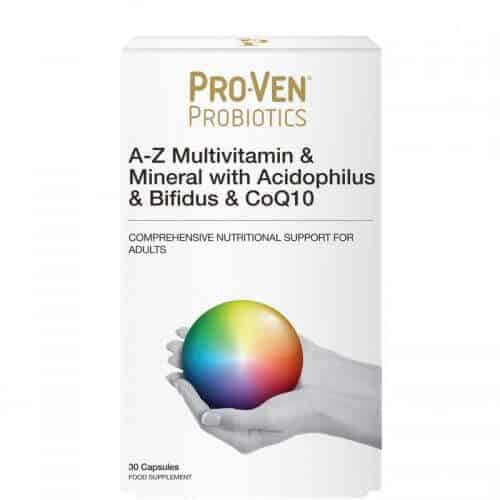 Probiotics Multivitamin and Minerals with friendly Bacteria and CoQ10 for Adults