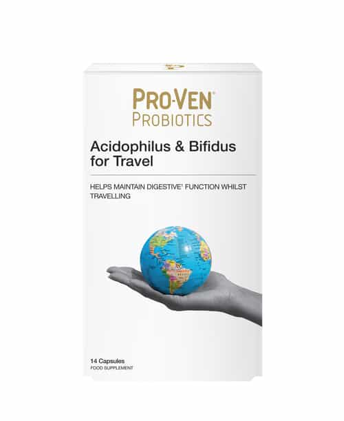 ProVen Probiotics for Travel - with Ginger, Glutamine and Aloe Vera