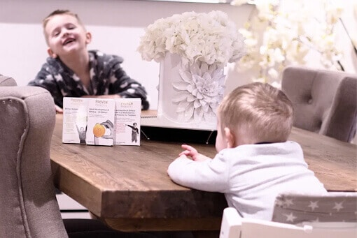 Both Liza Prodeaux's sons with their choice of probiotics from ProVen