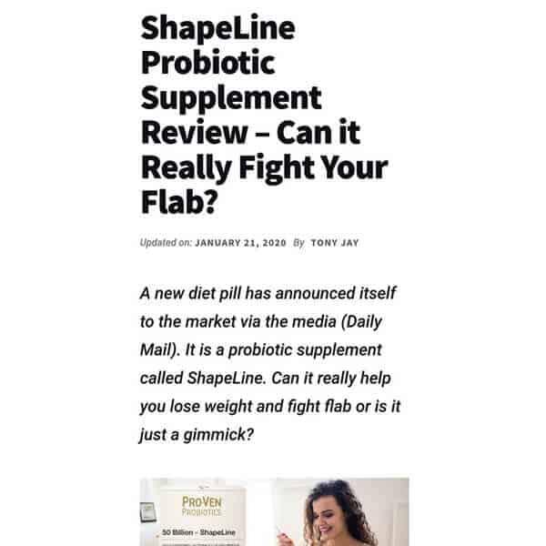 ShapeLine probiotic supplement review