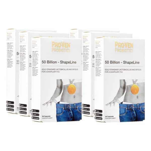 6 for 4 bundle on 50 Billion - ShapeLine from ProVen Probiotics