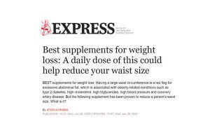 Article in the Daily Express promoting ProVen ShapeLine product