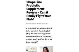 ShapeLine probiotic supplement review - can it really fight your flab