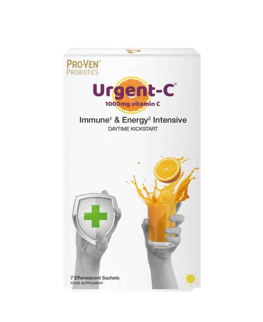 Urgent C Immune and Energy Intensive daytime kickstart vitamin C product from ProVen