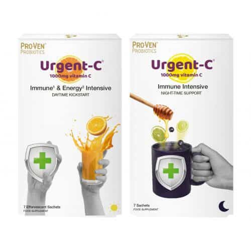 Urgent C Daytime and Night-time daily immune support vitamin C product from ProVen