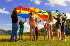 Children's mental health week with children playing together