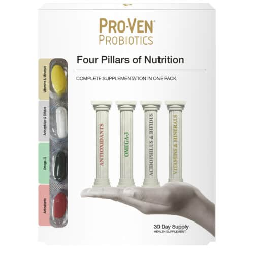 Four Pillars of Nutrition Product manufactured by ProVen Probiotics